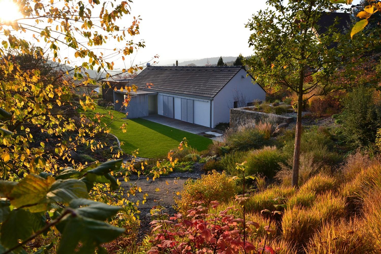 Zahrada pod lesem podzim